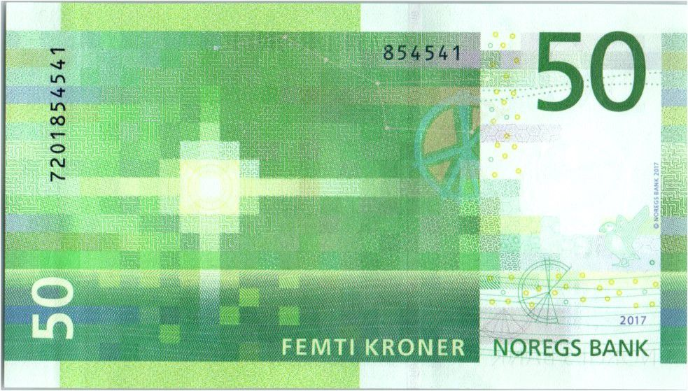 Norway 50 Kroner Lighthouse 2017 (2018)