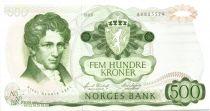 Norway 500 Kroner Niels Henrik Abel - 1985 - XF - P.39
