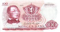 Norwegen 100 Kroner 1977 - Henrik Wergeland