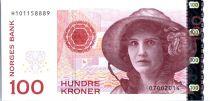 Norwegen 100 Kroner Kristen Flagstad - Theatre 2014 (2016)