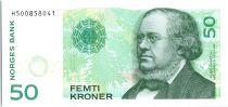 Norwegen 50 Kroner, P. C. Asbjornsen, flowers - 2015 (2016)