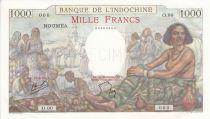Nouvelle Calédonie 1000 Francs, Femme assise - Spécimen 1937 (1953)