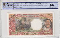 Nouvelle Calédonie 1000 Francs Tahitienne - Hibiscus - 1969 - PCGS 66 OPQ