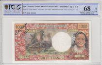 Nouvelle Calédonie 1000 Francs Tahitienne - Hibiscus - 1969 - PCGS 68 OPQ