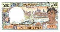Nouvelle Calédonie 500 Francs Pirogue - Spécimen - 1979