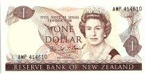 Nouvelle-Zélande 1 Dollar Elizabeth II - Pie Fantail - 1989