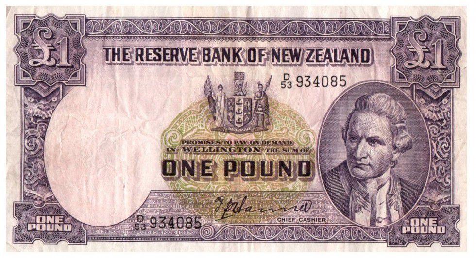 Nouvelle-Zélande 1 Pound Capt. James Cook - Bateau
