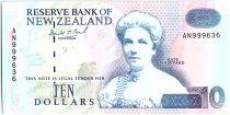 Nouvelle-Zélande 10 Dollars Kate Sheppard - Canards - 1992