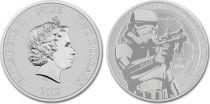 Nouvelle-Zélande 2 Dollars Star Wars - Stormtrooper  - Once Argent 2018