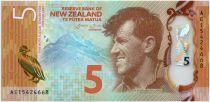 Nouvelle-Zélande 5 Dollars E. Hillary, Mont Everest - Pingouin 2015