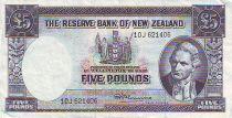 Nouvelle-Zélande 5 Pound Capt. James Cook - Lac Pukaki- 1967