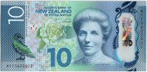 Nouvelle-Zélande New1.2015 10 Dollars, Katel Sheppard, fleurs - Canards - 2015
