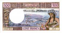 Nouvelles Hébrides 100 Francs Tahitienne - 1972 série F.1