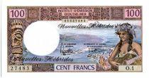 Nouvelles Hébrides 100 Francs Tahitienne - 1975 serie O.1