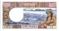 Nouvelles Hébrides 100 Francs Tahitienne - 1977 serie J.1