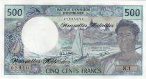Nouvelles Hébrides 500 Francs Polynésien - Pirogue - 1980 alph N.1