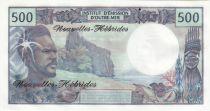 Nouvelles Hébrides 500 Francs Polynésien - Pirogue - 1980 alph O.1 Neuf