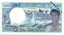 Nouvelles Hébrides 500 Francs Polynésien - Pirogue - Spécimen