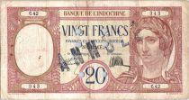 Nueva Caledonia 20 Francs Peacock - Specimen - 1929