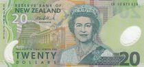 Nueva Zelanda 20 Dollars Elizabeth II - Falcons, mountain - 2006 Polymer