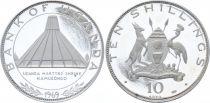 Ouganda 10 Shillings Visit du Pape Paul VI - Monument - 1969-1970