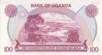 Ouganda 100 Shillings - Armoiries - Animaux - 1982