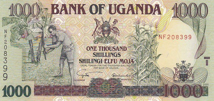Ouganda 1000 Shillings - Armoiries - Usine - 2001