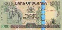 Ouganda 1000 Shillings Fermier - Sillo - 2005