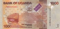 Ouganda 1000 Shillings Paysage - Gazelles - 2017