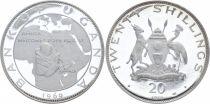 Ouganda 20 Shillings Visite du Pape Paul VI - 1969-1970