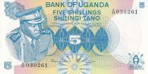 Ouganda 5 Shillings - Président Idi Amin - Femme - 1977