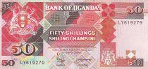 Ouganda 50 Shillings - Armoiries - Monuments - 1994