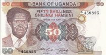 Ouganda 50 Shillings - Président Milton Obote - Barrage - 1985