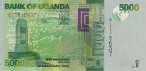 Ouganda 5000 Shillings 2017 - Montagne, oiseaux