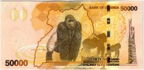 Ouganda 50000 Shillings Défilé - Gorilles - 2013
