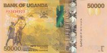Ouganda 50000 Shillings Défilé - Gorilles 2017