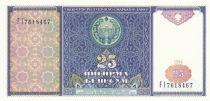 Ouzbékistan 25 Sum 1994 - Armoiries, Mausolée Samarkand