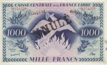 P.16.A 1000 Francs, Phoenix - Cancelled - 1941 Serial TA174535