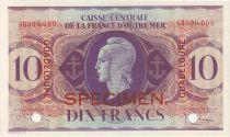 P.27 10 Francs, Marianne - Croix de Lorraine - 1944 Spécimen