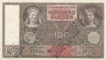Paesi Bassi 100 Gulden Woman face - 1942