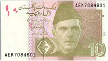 Pakistan 10 Rupees M. Ali Jinnah - Peshawar 2015