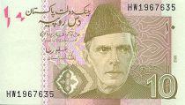Pakistan 10 Rupees M. Ali Jinnah - Peshawar