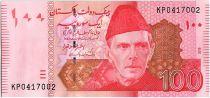 Pakistan 100 Rupees Mohammed Ali Jinnah - Quaid E-Azam Residency - 2015