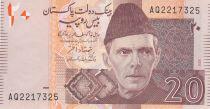 Pakistan 20 Rupee M. Ali Jinnah - Mohen jo Daro