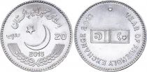 Pakistan 20 Rupees, Year of Friendly Exchange - 2015