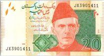 Pakistan 20 Rupees M. Ali Jinnah - Mohen Jo Daro Larkana -2018