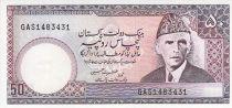 Pakistan 50 Rupees - M. Ali Jinnah - Lahore fort - (1981-1982)
