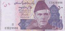 Pakistan 50 Rupees - M. Ali Jinnah - Montagne - 2008