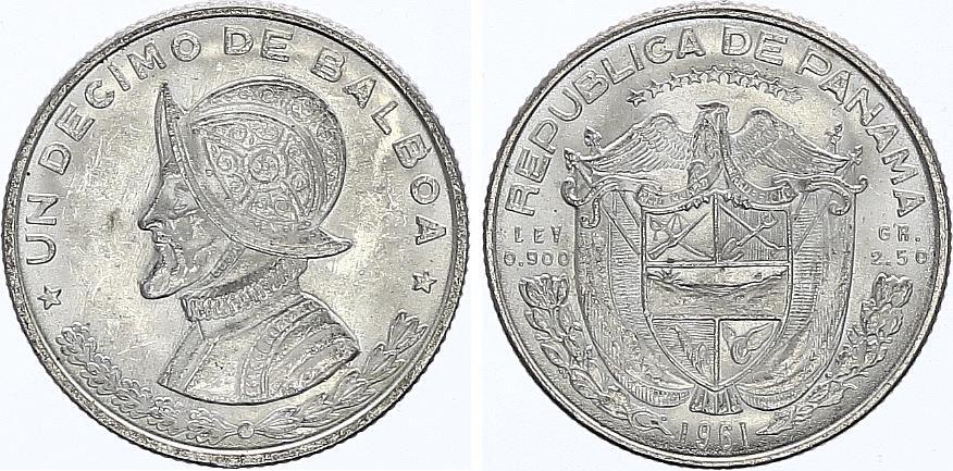 Panama 1/10 Balboas Simon Bolivar - Argent 1961 - FDC