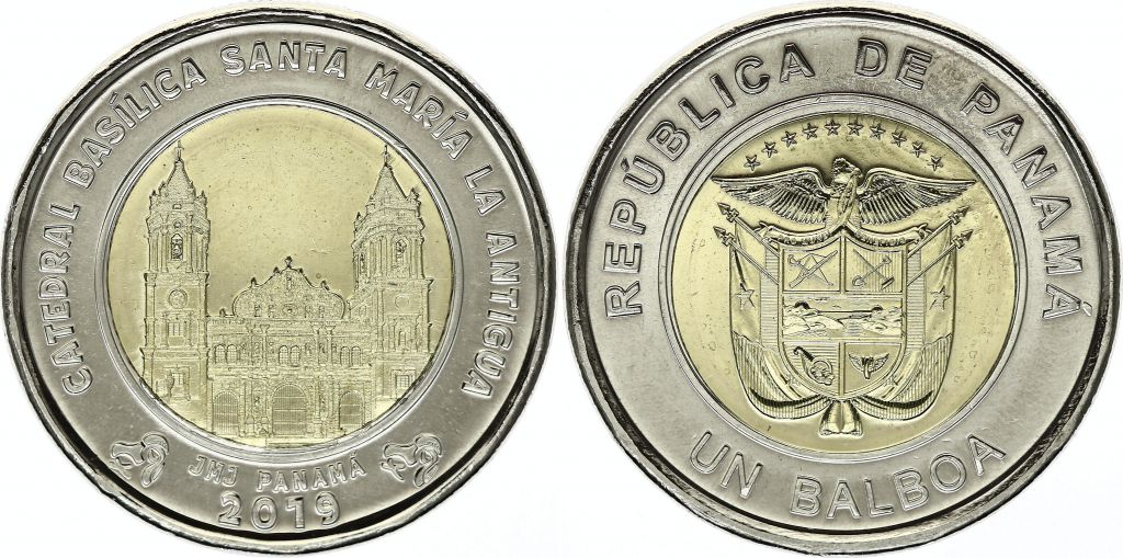 Panama 1 Balboa Cathédrale Santa Maria de la Antigua - 2019 Bimétal